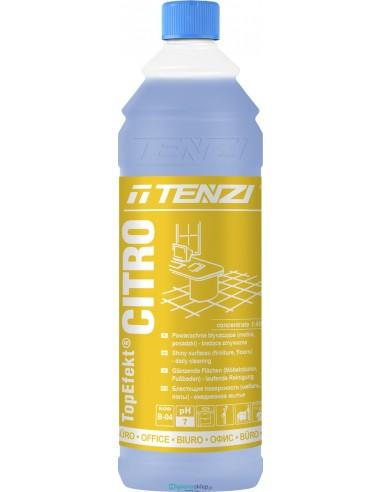 TENZI TOPEFEKT CITRO 1L Koncentrat. Bieżące mycie powierzchni błyszczących (zapach cytrynowy).