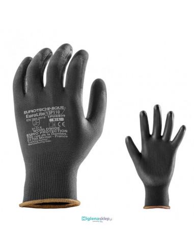 Rękawice robocze EUROLITE 13p dziane z poliestru powlekane poliuretanem